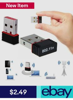 Usb Wi-Fi Adapters #ebay #Computers/Tablets & Networking Wireless Lan, Wi Fi, Computers, Usb Flash Drive, Cards, Ebay, Products, Maps, Playing Cards