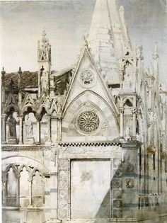"""Santa Maria della Spina, Pisa; East End "" (1846-47), by John Ruskin"