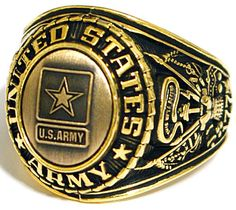 Wear this unique US Army insignia ring and take pride in your association with the United States Armed Forces. Show your pride in the work you do and the country you serve. Makes a perfect gift for that special serviceman in your life.