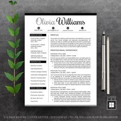 Items similar to Resume Template & Cover Letter Template Cv Design, Resume Design, Cover Letter Template, Cv Template, Mac Pc, Modern Resume, Creative Resume Templates, A4, Photoshop