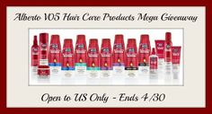 VO5 Hair Care Prize Pack GIVEAWAY
