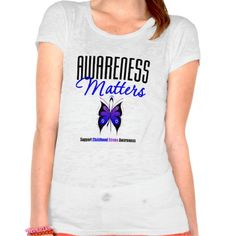 Childhood Stroke Awareness Matters T-shirts by www.giftsforawareness.com  #ChildhoodStroke #PediatricStroke  #awareness