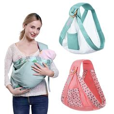 Baby Wrap Carrier Newborn Sling Dual Use Infant Nursing Cover Carrier Mesh Fabric Breastfeeding Carriers Up to 130 lbs Honest Company Diaper Bag, Kangaroo Baby, Ergonomic Baby Carrier, Diy Bags Purses, Baby Wrap Carrier, Diy Bebe, Baby Sewing Projects, Diaper Bag Backpack, Baby Wraps