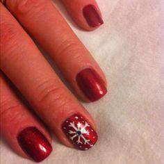 Snowflake Shellac Nails!!