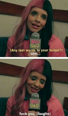 you go Melanie! Melanie Martinez Quotes, Mel Martinez, Crybaby Melanie Martinez, Cry Baby, Adele, She Song, Mood, Queen, Crying
