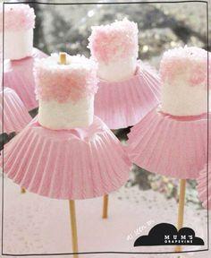 Ballerina marshmallows.