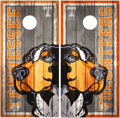 Tennessee Vols Weathered Wood Cornhole Wrap Bag Toss Decal Sticker Wraps by EliteChoiceGraphics on Etsy https://www.etsy.com/listing/218481060/tennessee-vols-weathered-wood-cornhole