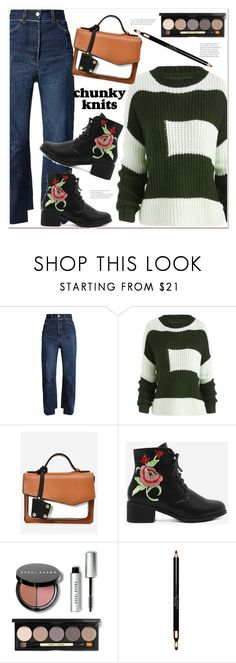 """chunky knits"" by mycherryblossom ❤ liked on Polyvore featuring Vetements, Bobbi Brown Cosmetics and Clarins"