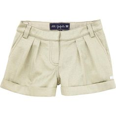 Lili Gaufrette LETSTUDIO Gold Shorts Cuffed Front Pleated Girls - Not a fan of the color, just the style.