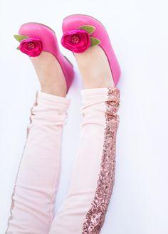 Tuxedo Leggings in Rose Bohemian Kids, Skirt Pants, Tuxedo, Fashion Forward, Slippers, Footwear, Leggings, Clothes, Rose