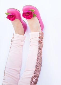 Tuxedo Leggings in Rose
