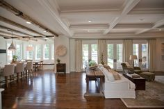 Mix of rustic beams and coffering 4S574 Radcliff Road, Naperville, IL 60563 -