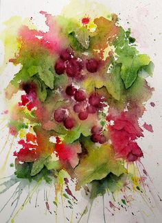 Fall Berries by linfrye #watercolor jd