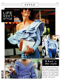 """O azul e branco predominaram na NYFW! """"Em listras ou xadrezes, as duas cores casadas aparecem no melhor do street style da temporada. Os looks ficam super bacanas se coordenados com peças azuis - como o jeans, por exemplo. Para a gente copiar..."""