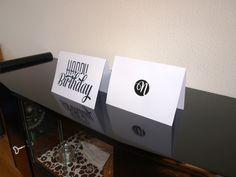 Happy Birthday - Typografie Kaarten - Naomi Typografie - www.naomitypografie.nl