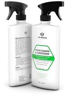 Wood Cleaner, Conditioner & Polish - For Hardwood Floors, Furniture & Cabinets - Removes Stains & Restores Shine - Wax & Oil Polisher - Works on Stained & Unfinished Surfaces - 18 OZ - TriNova - http://astore.amazon.com/home_garden_tools-20/detail/B01AB1AHBO