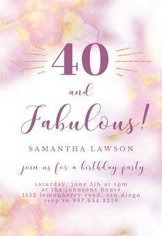 Abstract Watercolor - Birthday Invitation #invitations #printable #diy #template #birthday #party