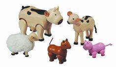 Amazon.com: Plan Toy Farm Animal Set: Toys & Games