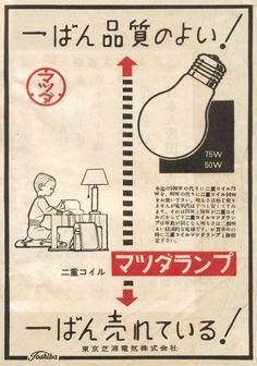 東京芝浦電気株式会社「マツダランプ」/ 1949