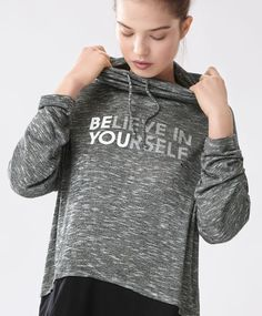 Slogan marl sweatshirt - New In - Spring Summer 2017 trends in women fashion at Oysho online. Find lingerie, pyjamas, slippers, nighties, gowns, fluffy, maternity, sportswear, shoes, accessories, body shapers, beachwear and swimsuits & bikinis.
