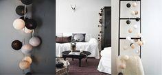 Que ce soit avec une guirlande monochrome ou composée d'un camaïeu de gris, l'utilisation du noir et blanc en décoration apporte toujours cette touche chic et classe que l'on recherche tant. Aucune faute de goût n'est possible, suivez le guide …