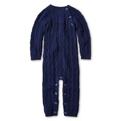 giggleBABY™ Cable Coveralls @JCPenney #cableknit #newborn #baby