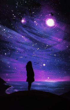 i do not own or claim any photos music just sharing beautiful artwork and great music. Tumblr Wallpaper, Cute Galaxy Wallpaper, Night Sky Wallpaper, Anime Scenery Wallpaper, Cute Wallpaper Backgrounds, Pretty Wallpapers, Cool Galaxy Wallpapers, Moon And Stars Wallpaper, Light Purple Wallpaper