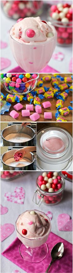 Bubble Gum Ice Cream | Cookmee.  I used to love the bubble gum icecream from Baskin Robbins as a kid!