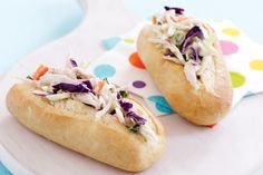 Chicken and coleslaw tolls