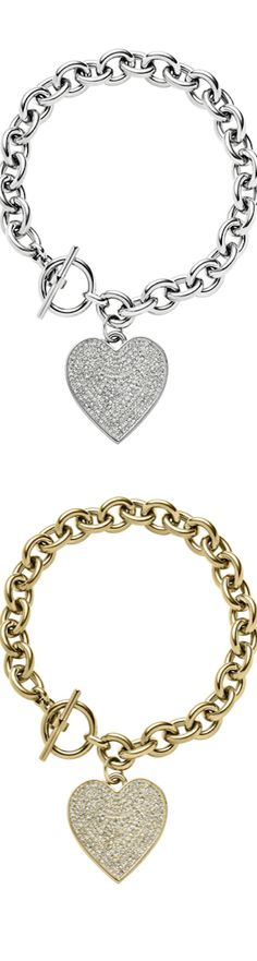 michael kors jewelry outlet online 8g2w  Michael Kors Etched MK Heart Bracelets  The House of Beccaria#