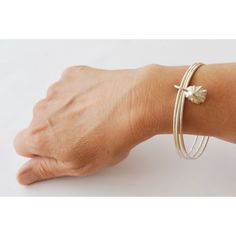 Handmade Sterling Silver Bangle Stack with by JasmineBowdenShop