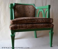 Animal Print Chair - green & leopard.  Be daring. It will usually look good.