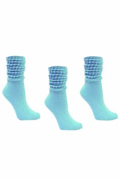 Cotton 3 Pack Heavy Slouch Socks