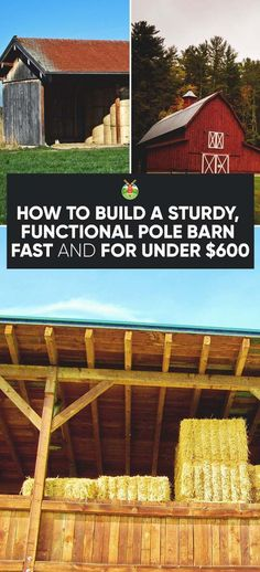 Shed DIY - If you have a new homestead, like we do, you definitely need a barn. We show you how to build a pole barn that is cost effective and quick to build. Now You Can Build ANY Shed In A Weekend Even If You've Zero Woodworking Experience! Diy Pole Barn, Building A Pole Barn, Pole Barn Homes, Building A Shed, Pole Barns, Pole Barn Plans, Pole Barn Cost, Building Homes, Building Ideas