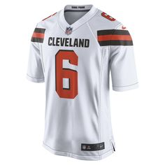 NFL Cleveland Browns (Baker Mayfield) Men s Game Football Jersey Size 3XL  (White) a193359a8