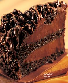 Chocolate Lovin' Spoon Cake -- OMG someone make me this!!! :)