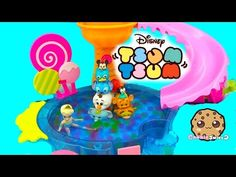 Unboxing Disney Tsum Tsum with Mystery Blind Bag at Queen Elsa Orbeez Pool Party - Cookieswirlc - YouTube