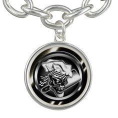 Skull Chef Charm Bracelet Bracelets 20%  Checkout Code: CHARMJEWELRY good until 9/30/14   #zazzle