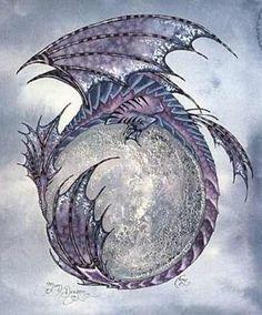 Amy Brown Moon Dragon Print                                                                                                                                                      More