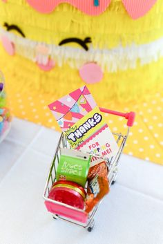 Shopping cart favor from a Shopkins Birthday Party via Kara's Party Ideas | KarasPartyIdeas.com (38)
