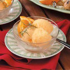 Orange Rosemary Sorbet Recipe | Taste of Home Recipes