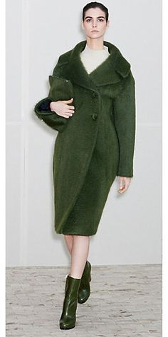 Celine: Forest Brushed Mohair Coat