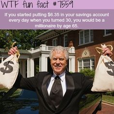 How to be a millionaire - WTF fun facts (WTF Facts : funny & weird facts) The More You Know, Good To Know, Did You Know, Funny Weird Facts, Wtf Fun Facts, Random Facts, Things To Know, Mind Blown, Just In Case