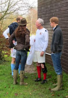 Christmas Eve,  2011 - Kate Middleton and Prince Harry Wear Matching Wellies
