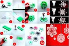 DIY Paper Medallions Miniaturized & DIY Paper Snowflakes Here To Beautify Your Holidays Detailed Guide+Template