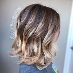 Balayage Ombre Shoulder Length Bob Haircut