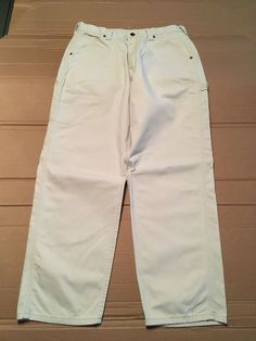 Lee Dungarees White Carpenter Work Painting Pants Men's Size 34 x 32 #Lee #Carpenter