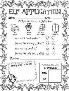 ELF APPLICATION, ELF ID CARDS, AND {EDITABLE} LETTER FROM SANTA - ELF FUN! - http://TeachersPayTeachers.com