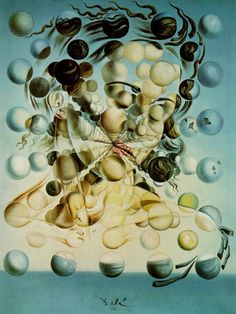 Salvador Dali >> Galatée aux sphères, 1952  |  (huile, reproduction, copie, tableau, oeuvre, peinture).