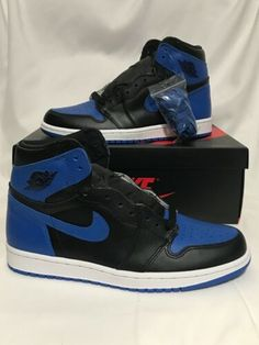 on sale 67c14 b68b6 2017 Nike Air Jordan 1 High OG Black Royal 555088-007 Size 8 Air Force